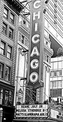 Chicago Sign Print by Amber Roth