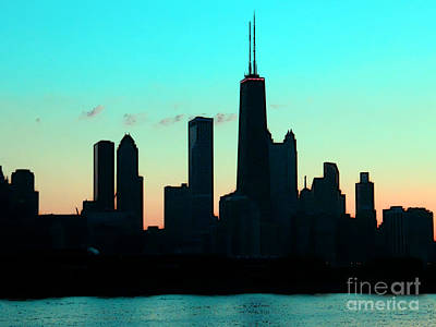 Chicago Skyline Cartoon Print by Sophie Vigneault