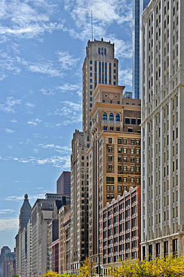 Street Art Photograph - Chicago Willoughby Tower And 6 N Michigan Avenue by Christine Till