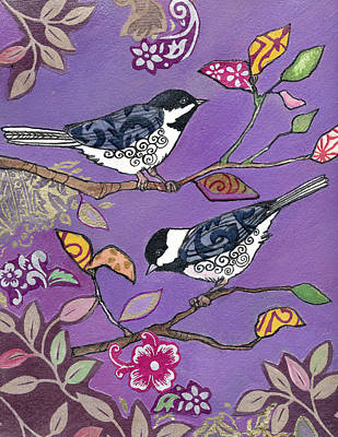 Chickadee Mixed Media - Chickadee Fun by Marty Husted