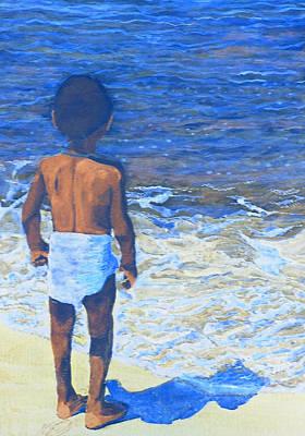 Yemaya Mixed Media - Child Of The Sea by Duwayne Washington