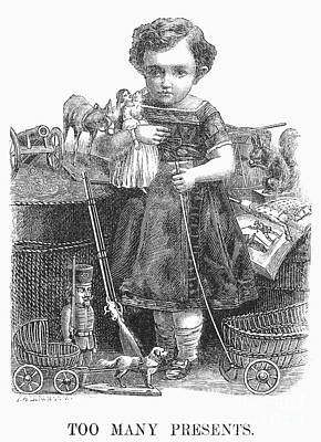 Child With Toys, 1873 Print by Granger