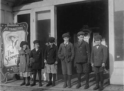 Children At A Penny Arcade, Original Print by Everett