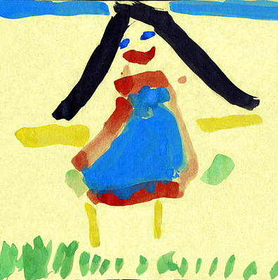 Child's Painting Print by Sheila Terry