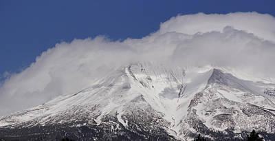 Mt. Massive Photograph - Chill Winds Across Shasta's Peak by Mick Anderson