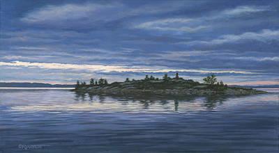 Chimney Island Print by Richard De Wolfe