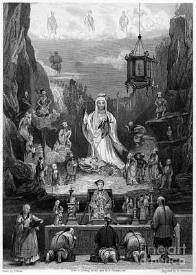 Ching Dynasty Photograph - China: Altarpiece, 1843 by Granger