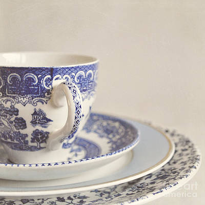 China Cup And Plates Print by Lyn Randle