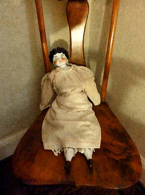 Dolls Photograph - China Doll On Chair by Susan Savad