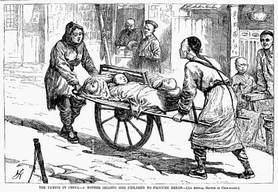China: Famine, 1877 Print by Granger