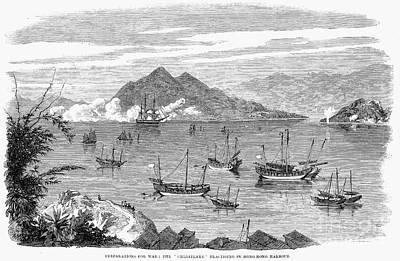 Ching Dynasty Photograph - China: Hong Kong, 1860 by Granger