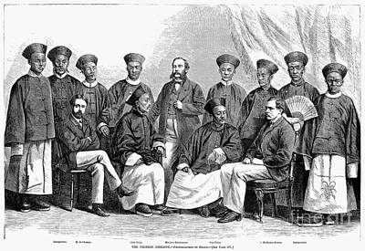 Ching Dynasty Photograph - Chinese Delegation, 1868 by Granger