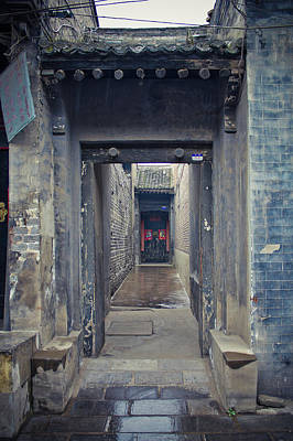 Chinese Style Old Doorway Print by Eastphoto