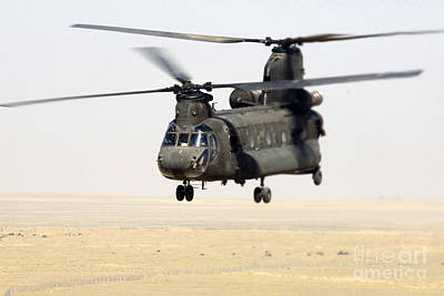 Chinook Cargo Helicopter Print by DOD/Science Source