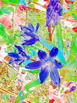 Early Spring Mixed Media - Chionodoxa by Barbara Moignard