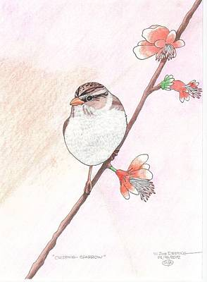 Chipping Sparrow Print by William Deering