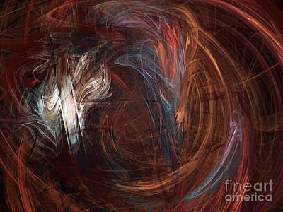 Fractal Digital Art - Chocolate by Andee Design