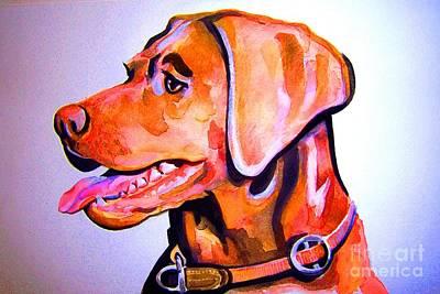 Chocolate Labrador Retriever Painting - Chocolate Lab by Ken Huber