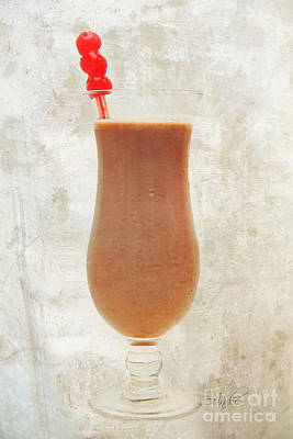 Isolated On White Mixed Media - Chocolate Milk With Cherries On Top by Andee Design