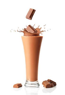 With Photograph - Chocolate Milkshake Smoothie by Amanda Elwell