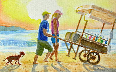 Seacoast Drawing - Choose Your Flavor by Vic Delnore
