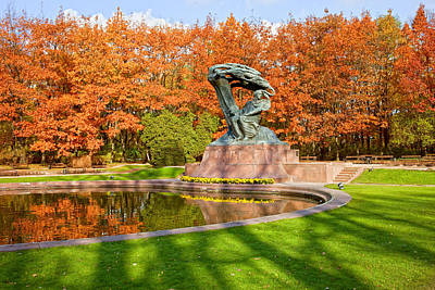 Chopin Monument In The Lazienki Park Print by Artur Bogacki