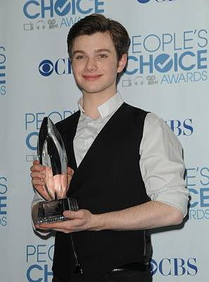 Chris Colfer In The Press Room Print by Everett