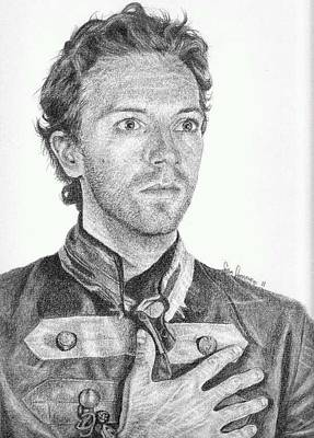 Coldplay Drawing - Chris Martin by Sean Leonard