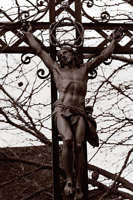 Christ Among The Ruins Print by Pam Blackstone