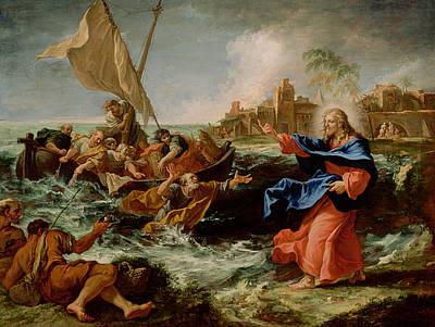 Christ At The Sea Of Galilee Print by Sebastiano Ricci