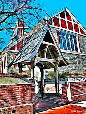 Sermon Digital Art - Christ Church Of St Michaels by Stephen Younts