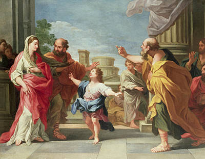 Christ Preaching In The Temple Print by Ludovico Gimignani