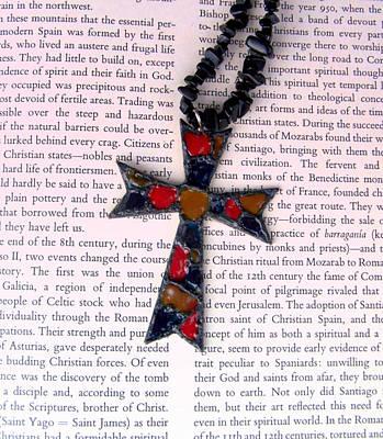 Christian  Cross Print by Cynthia Amaral