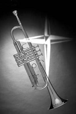 Christian Cross On Trumpet Print by M K  Miller