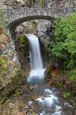 Mountain Photograph - Christine Falls Rainier National Park by Pierre Leclerc Photography