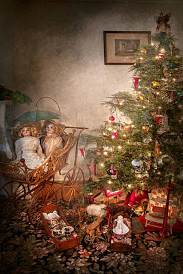 Decorated For Christmas Photograph - Christmas - My First Christmas  by Mike Savad