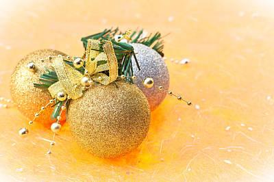 Yule Photograph - Christmas Bawbles by Tom Gowanlock