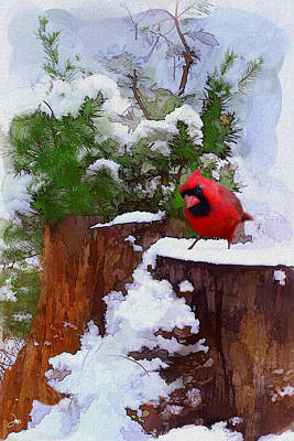 Christmas Guest Print by Ron Jones