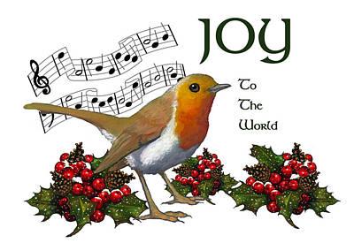 Christmas Robin Print by Joyce Geleynse