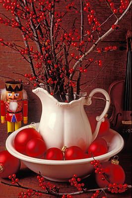 Cracker Photograph - Christmas Still Life by Garry Gay