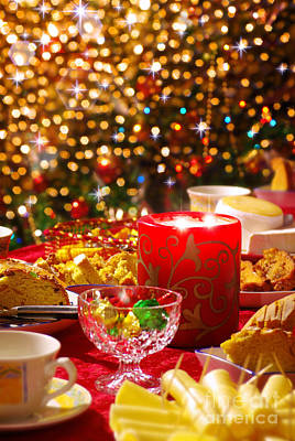 Special Occasion Photograph - Christmas Table Set by Carlos Caetano
