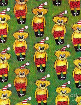 Christmas Teddy Bears Original by Genevieve Esson