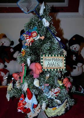 Mermaid Photograph - Christmas Tree Gone Fishing by LeeAnn McLaneGoetz McLaneGoetzStudioLLCcom