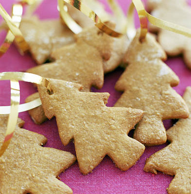 Christmas Tree Shaped Biscuits Print by David Munns