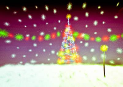 Flurries Photograph - Christmas Tree by Tom Gowanlock