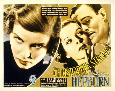 Posth Photograph - Christopher Strong, Katharine Hepburn by Everett