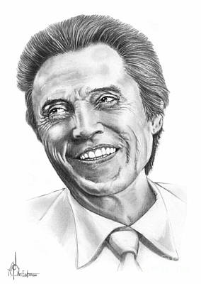 Famous People Drawing - Christopher Walken by Murphy Elliott