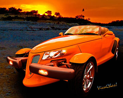 Prowler Photograph - Chrysler Plymouth Prowler Rocky Sunset by Chas Sinklier