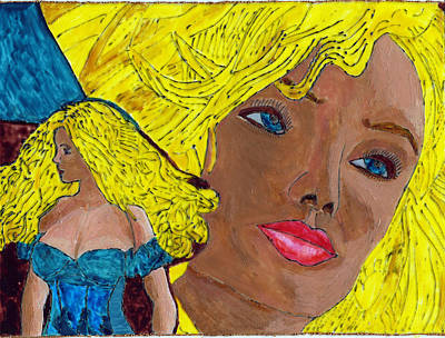Double Image Painting - Chrystal O by Phil Strang