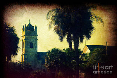 Palmetto Tree Photograph - Church At Fort Moultrie Near Charleston Sc by Susanne Van Hulst